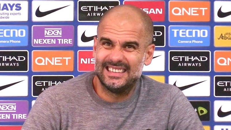 Manchester City 2-3 Manchester United - Pep Guardiola Post Match Press Conference - Embargo Extras