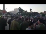 BREAKING: Less than 2 hours after the bombing ending, celebrations have begun in the Syrian capital Damascus in defiance of the