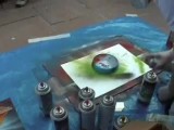 Nick Marshal Spray Paint Art
