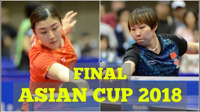CHEN Meng vs ZHU Yuling WS FINAL Asian Cup 2018