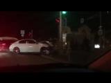 Lexus устроил массовое ДТП на Уральской. Краснодар. 10 января в 21:25.