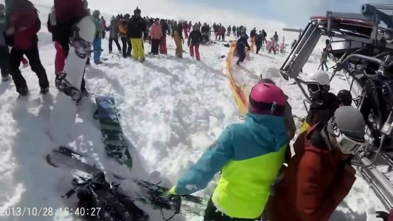 [18] трагедия в гудаури - грузия | accident in gudauri, georgia ski