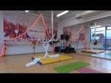 Вдовина Софья 7 лет, начинающие. 1 Чемпионат Еврофитнес по Воздушной гимнастике