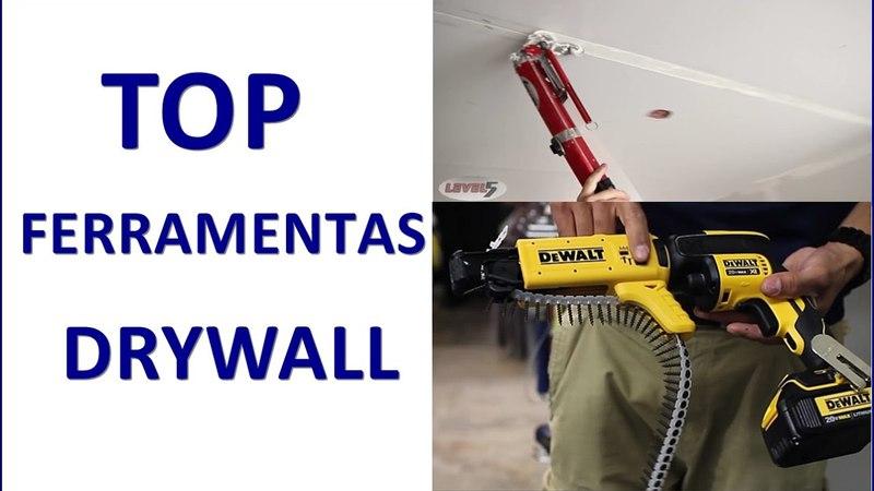 FERRAMENTAS DRYWALL QUE TODO INSTALADOR GOSTARIA DE TER