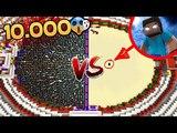 Майнкрафт : 10.000 НУБОВ ПРОТИВ ХЕРОБРИНА ~ ЗАЩИТА ОТ НУБА ГРИФЕР ТРОЛЛИНГ ПОСТРОЙКА В MINECRAFT