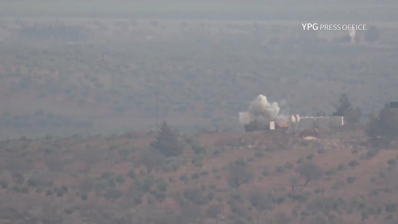 Сирия.21-01-2018.Поражение танка Леопард-2 турецких ВС из ПТРК курдами YPG