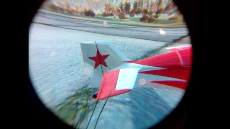 Самолёт Стриж в шлеме виртуальной реальности (2015)
