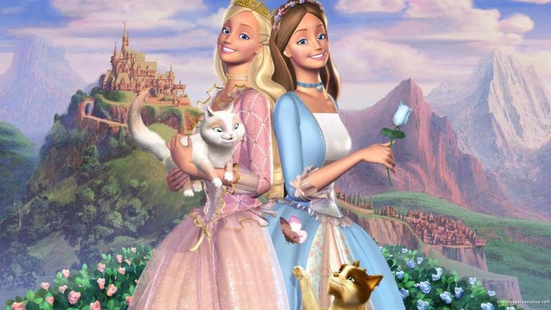 Мультфильм Барби и принцесса нищенка HD