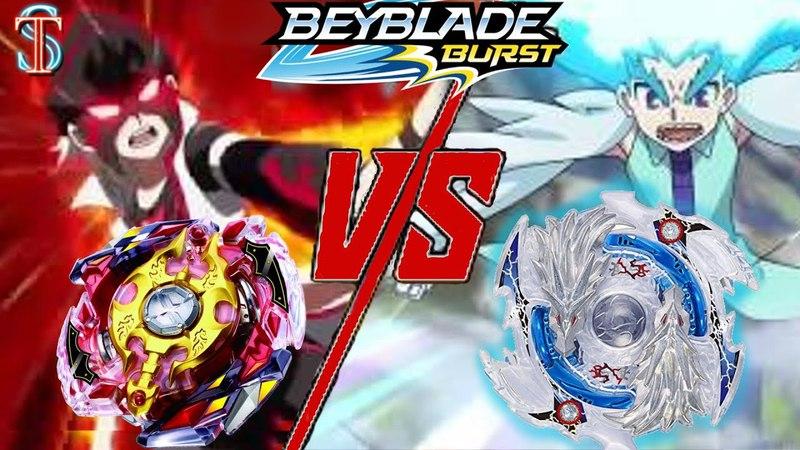 Бейблэйд Легендарный Спрайзен С3 или Луинор - Красный глаз против Луи Широсаги || Супер Тима