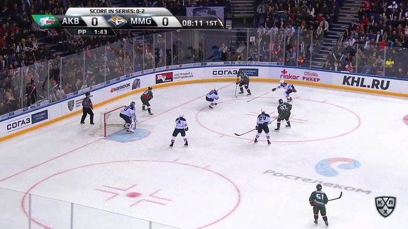 Моменты из матчей КХЛ сезона 17/18 • Гол. 1:0. Азеведо Джастин (Ак Барс) открывает счет матча в большинстве 28.03