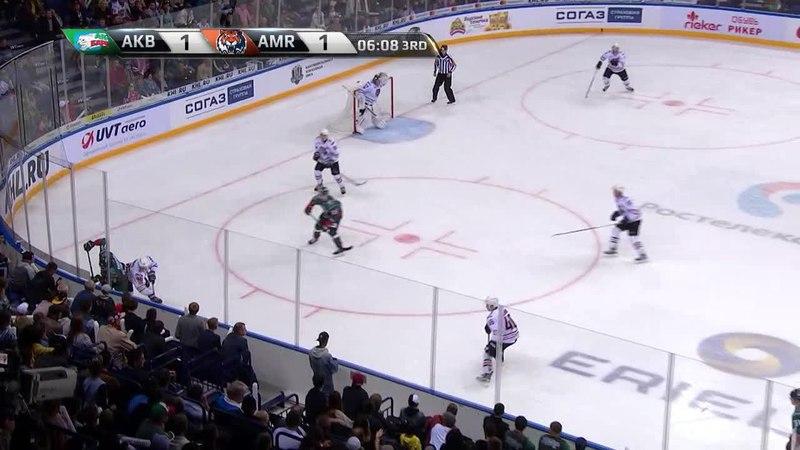 Моменты из матчей КХЛ сезона 17/18 • Удаление. Юха Метсола (Амур) получил 2 минуты за задержку игры 28.08