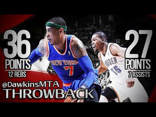 Carmelo Anthony vs Kevin Durant SCORING TiTLE Battle 2013.04.07 - KD With 27 Pts, Melo With 36!