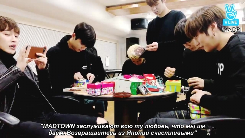 [rus.sub] MADTOWN VLIVE - Pepero Day with MADTOWN Special Broadcast (161110)