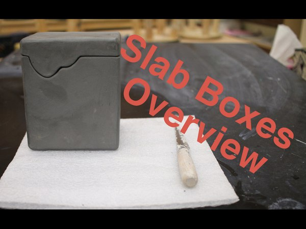 Hard Slab Boxes overview pottery I 2017