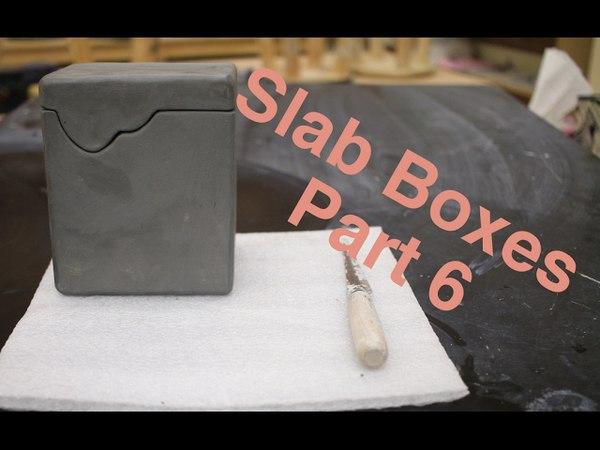 Hard Slab Boxes Part VI pottery I 2017 Glazing