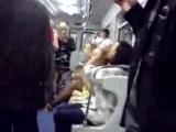 Толпа анимешников орет на весь вагон: