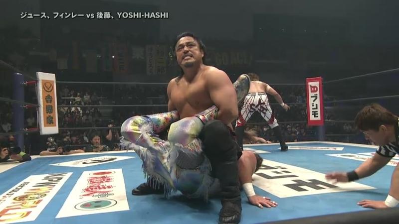 Juice Robinson, David Finlay vs. Hirooki Goto, YOSHI-HASHI (NJPW - New Japan Cup 2018 - Day 9)