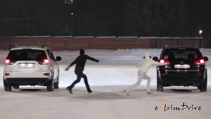 автоФигурное Катание. Танец машин и фигуристов на льду