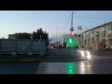Адский светофор на перекрестке Кирова -Маркса в Кургане