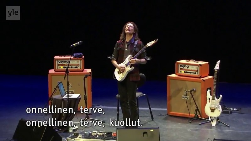 Steve Vai interviewed @ Sellosali, Espoo Finland 2018