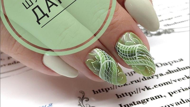 [En,fr,de,es CC] Простой и быстрый весенний дизайн ногтей Китайская роспись Роспись плоской кистью