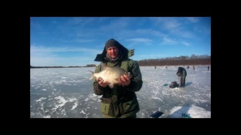 18 марта , зимняя рыбалка продолжается.Ловим леща