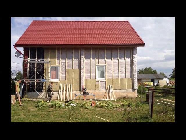 Обшивка дома блок хаусом и дополнительное утепление — Лесобаза.рф