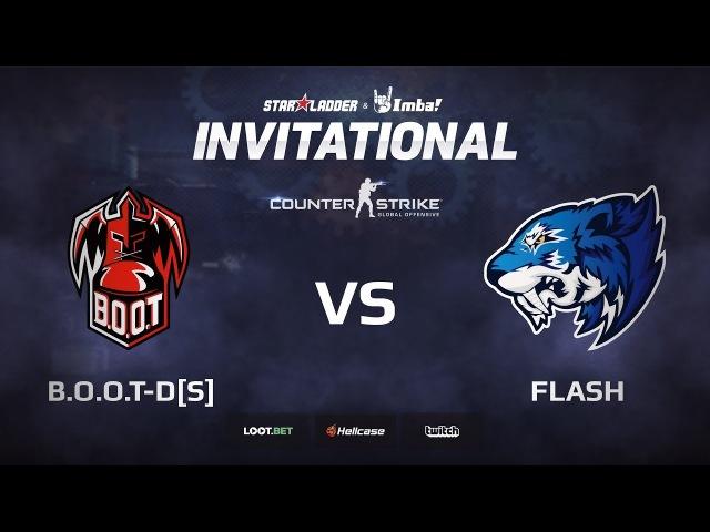 B.O.O.T-d[S] vs Flash, map 1 cobblestone, StarLadder ImbaTV Invitational Chongqing