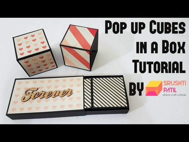 Pop up Cubes in a box Tutorial by Srushti Patil | Simple method | Valentine Special