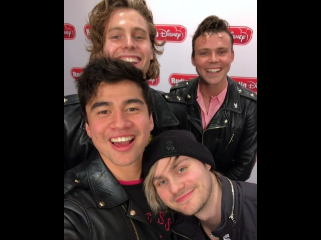 """@radiodisney on Instagram: """"We had so much fun hanging out with @5sos today! We are loving their brand new jam WantYouBack!!"""""""