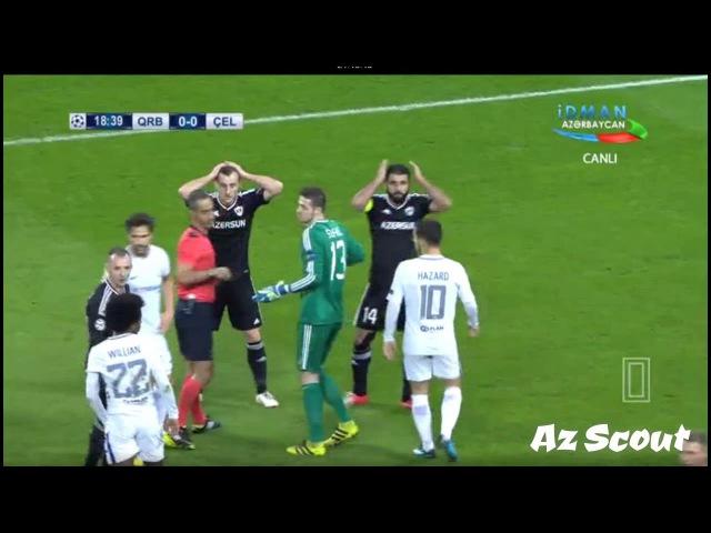 """""""Qarabağ"""" - """"Çelsi"""" matçındakı penalti epizodu"""