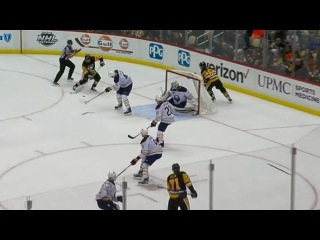 Kessel snaps a one-timer home, ties game
