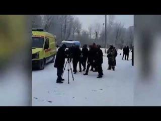 Появилось видео задержания одного из нападавших на школу в Перми