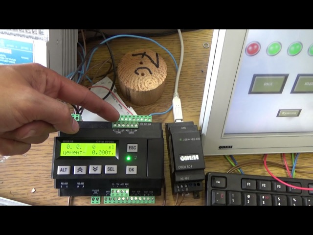 Микроконтроллер и scada система