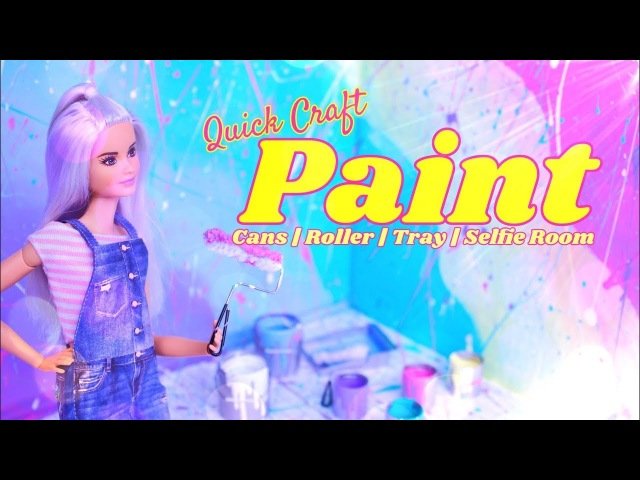 DIY - How to Make: PAINT Craft | Roller | Paint Tray | Selfie Room | Paint Buckets More