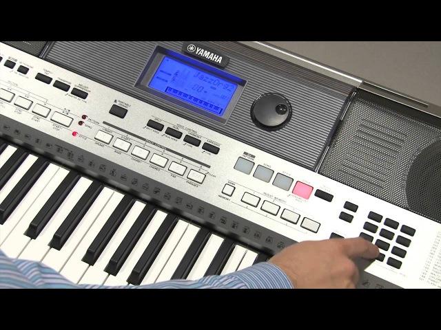 Сохранение настроек регистрационной памяти MEMORY на инструменте Yamaha PSR-E443