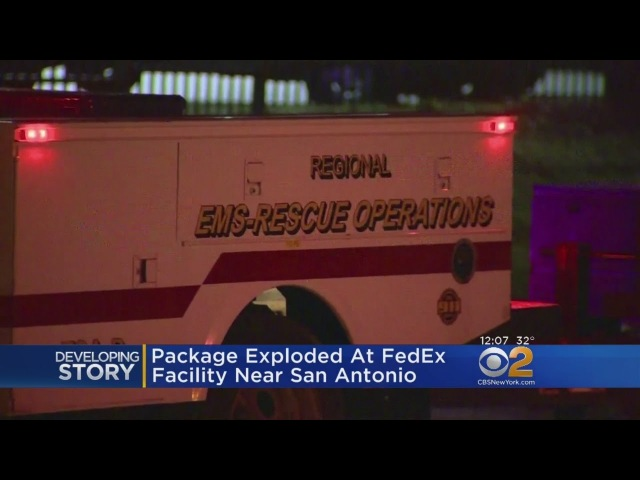 Package Explodes At FedEx Facility In San Antonio