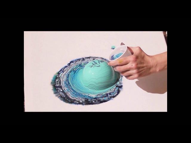 1. hidden flip cup swirl