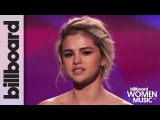 Selena Gomez Tearfully Accepts Woman of the Year Award at Billboard's Women in Music 2017