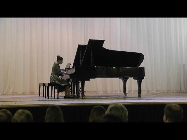 Л.Бетховен. Соната №17. I. Largo - Allegro. Исполняет Александра Голубцова.