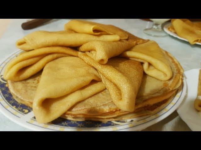 Блины с маслом на Масленицу по-цыгански. Блинчики со сметаной. Gipsy cuisine.