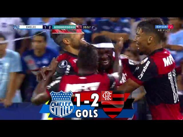 Gols Emelec 1 x 2 Flamengo Conmebol Libertadores 2018 14 03 2018 HD