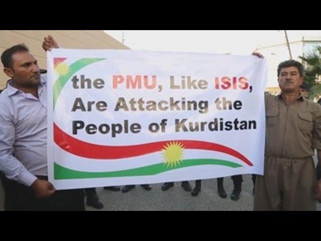 Kurdos protestan en Erbil porque la comunidad internacional les ha