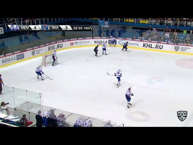 Моменты из матчей КХЛ сезона 16/17 • Гол. 4:4. Александр Барабанов (СКА) восстановил статус-кво 02.10