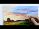 How To Paint A Sunset Sky Oil Painting Tutorial