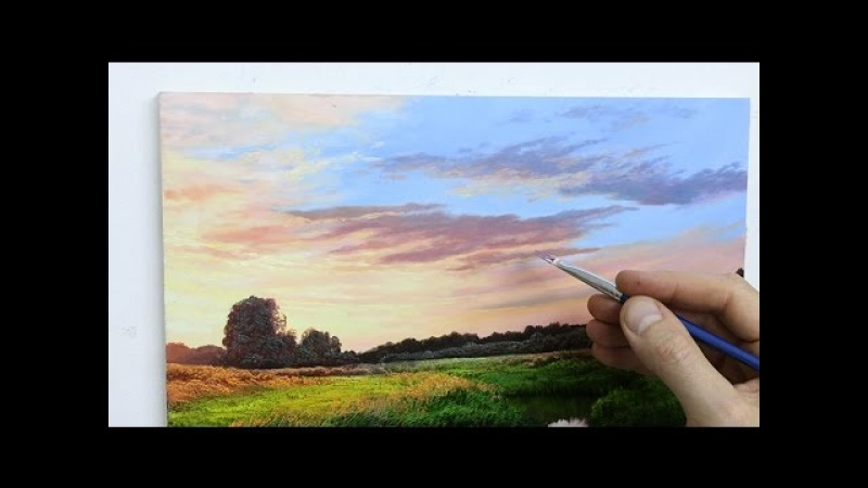 How To Paint A Sunset Sky | Oil Painting Tutorial