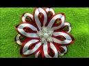 Flor de cetim dupla cor. muito Fácil.