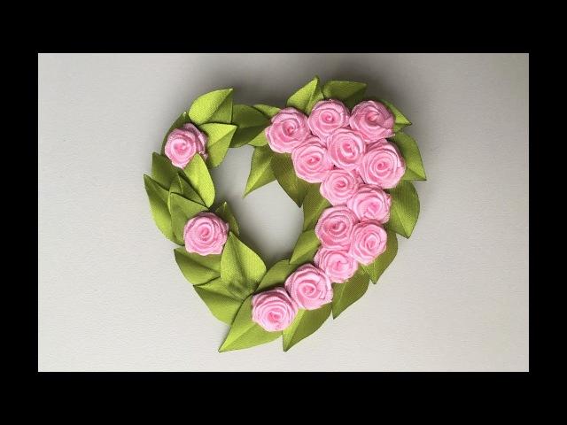 Сувенир магнит / Валентинка Канзаши / A gift for Saint Valentine's day