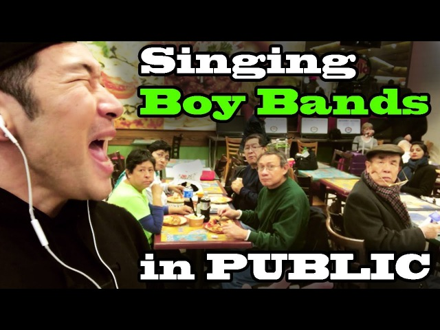 SINGING IN PUBLIC - Boy Bands! (BTS, ONE DIRECTION, NSYNC, BACKSTREET BOYS, B2K, NEW KIDS, and MORE)