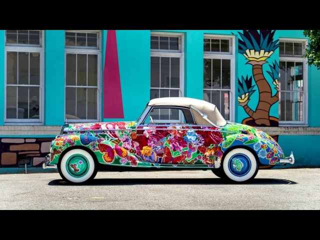Mercedes Benz 220 Cabriolet A Earthly Paradise Art Car by Hiro Yamagata W187